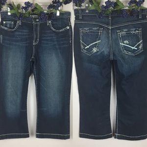 BKE BUCKLE DREW Capri Stretch Jeans Size 29 (8)